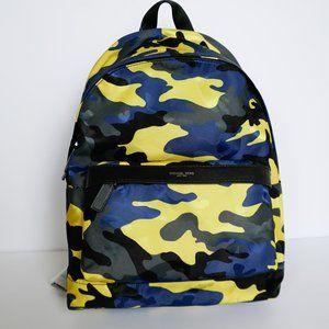 Michael Kors Mens Camouflage Backpack Navy Neon